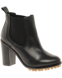 Asos Asos Aeroplane Chelsea Leather Ankle Boots - Lyst