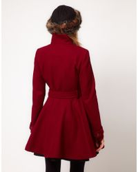 ASOS Collection Fit and Flare Belted Coat - Lyst