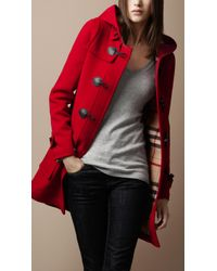 Burberry Brit - Check Lined Duffle Coat - Lyst