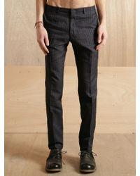 Dries Van Noten Dries Van Noten Mens Paine Zip Trousers - Blue