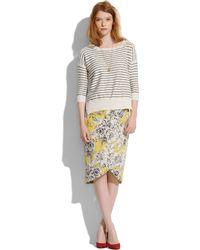 Madewell Silk Flowersketch Cutaway Skirt - Lyst