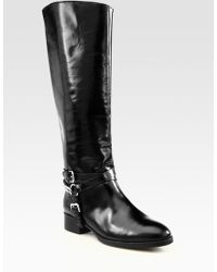 McQ by Alexander McQueen Leather Chain Kneehigh Boots - Lyst