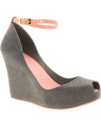 Melissa Patchuli Iv Wedges gray - Lyst