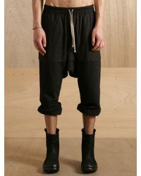 Rick Owens Rick Owens Mens Cropped Skirt Trousers - Lyst