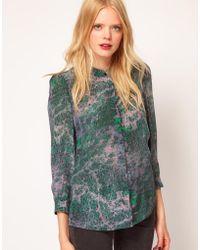 See By Chloé Berlin Print Silk Shirt - Lyst