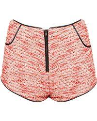 Topshop Boucle Shorts - Lyst