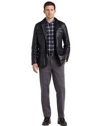 Brooks Brothers Leather Hybrid Jacket - Lyst