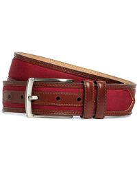 Brooks Brothers Grosgrain and Leather Belt - Lyst