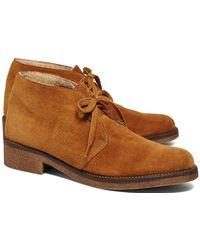 Brooks Brothers - Calfskin Suede Desert Heel Boot - Lyst