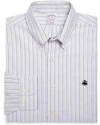 Brooks Brothers Non-Iron  Regular Fit Alternating Stripes Sport Shirt - Lyst