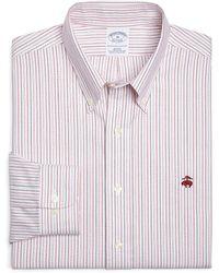 Brooks Brothers Non-Iron  Slim Fit Alternating Stripe Sport Shirt - Lyst