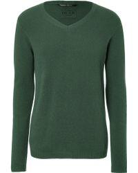 Dear Cashmere - Moss Green V-neck Pullover - Lyst