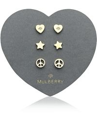 Mulberry Love and Peace Earrings - Lyst