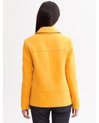 Banana Republic Cotton Toggle Jacket - Lyst