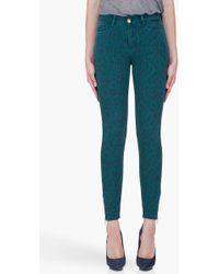 By Malene Birger Teal Leopard Print Zanabi Jeans blue - Lyst
