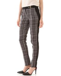 Peter Som - Plaid Pants with Solid Trim - Lyst