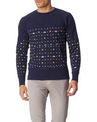 Vivienne Westwood Panelled Athletic Sweatshirt blue - Lyst