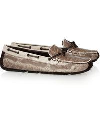 Bottega Veneta Snake Driving Shoes beige - Lyst