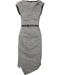 Michael Kors Draped Wool and Silkblend Tweed Dress - Lyst