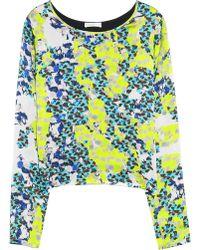 Michael van der Ham Printed Hammered Silk Top multicolor - Lyst