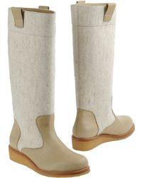MM6 by Maison Martin Margiela Highheeled Boots beige - Lyst