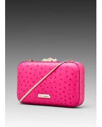 Rebecca Minkoff Minaudier Clutch pink - Lyst