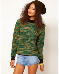 ASOS Collection Asos Sweat in Knitted Two Tone - Lyst