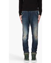 Diesel Navy Krooleyne Jogg Jeans - Lyst