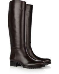 Bottega Veneta Leather Knee Boots - Brown