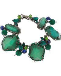 Erickson Beamon - Envy Gunmetal-Plated Swarovski Crystal Bracelet - Lyst