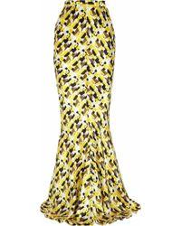 Duro Olowu - Printed Silk-satin Maxi Skirt - Lyst
