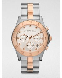 Marc By Marc Jacobs Two Tone Stainless Steel Chronograph Watch Rose Goldtone - Lyst
