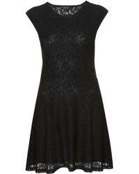 Topshop Paisley Lace Tunic black - Lyst