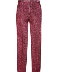 Marc Jacobs Cropped Metallic Woolblend Bouclé Pants - Lyst