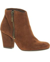 Oasis Metal Ankle Boots - Brown