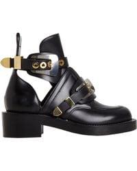 Balenciaga Buckle Ankle Boot black - Lyst