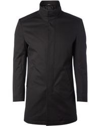 Kenneth Cole - Funnel Neck Mac with Internal Zip - Lyst