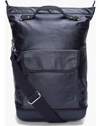 Kris Van Assche - Black Leather Shopper Bucket Bag - Lyst