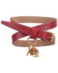 Alexander McQueen Cherry Skull Double Wrap Bracelet purple - Lyst