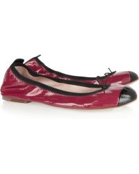 Bloch - Twotone Patentleather Ballet Flats - Lyst
