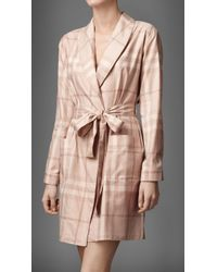 Burberry Check Dressing Gown - Pink