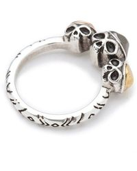 House of Harlow 1960 - Triple Skull Ring - Lyst