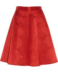 Temperley London Nyla Quilted Silk Satin Skirt - Lyst