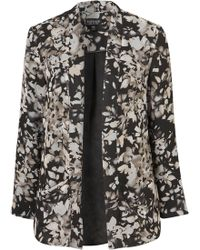 Topshop Shadow Floral Throwon Jacket gray - Lyst