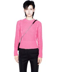 Acne Studios Lia Cable Candy Pink - Lyst