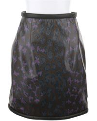 Christopher Kane Mini Skirt in Multicolor Leopard Print Leather - Lyst