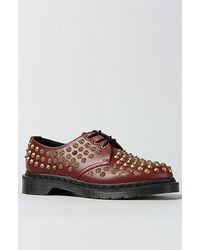 Dr. Martens The Harlen All Stud 3eye Shoe in Cherry Red - Lyst