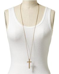 House Of Harlow 1960 Engraved Cross Pendant Necklace - Lyst