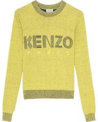 Kenzo Kenzo Cotton Knit Jumper yellow - Lyst