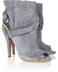 Maison Margiela Suede Ankle Boots - Lyst